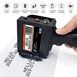 Handheld Inkjet Printer 300DPI Intelligent LED Screen Inkjet Coding Machine Portable Label...
