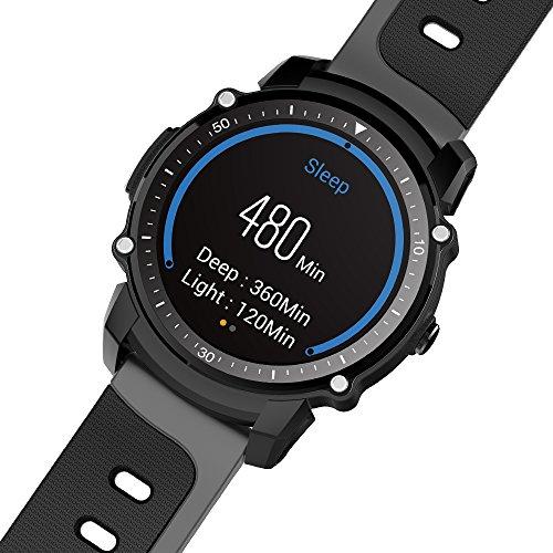 DEGH Moderne Smartwatch Wasserdicht Herzfrequenzmesser GPS Schrittzähler Barometer Kompass Sport Bluetooth Smart Watch