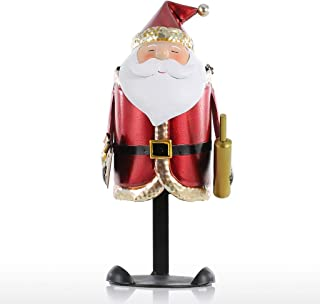 SMEJS Decorative Santa Claus Wine Holder Handmade Metal Practical Craft Christmas Decoration Wine Rack Gift for Christmas
