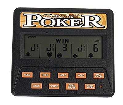 John N. Hansen Classic 5-in-1 Poker Electronic Games