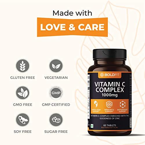 Boldfit Vitamin C 1000 mg Complex With Amla and zinc