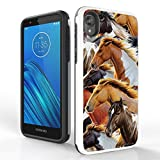 PimpCase Compatible with Moto E6 Case, Slim Hybrid Rugged Cover - Horses Herd