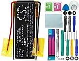 CS - Batería de polímero de litio (400 mAh, compatible con Cardo Q2, Q2 Pro, sustituye a Cardo 09D29, H452050, con kit de herramientas de reparación 14 en 1)