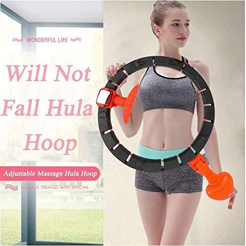 Best Deals! Cretee Will Not Fall Hula Hoop Adjustable Hot Waist Worker for Adults Hula Hoops