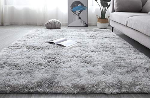 Fluffy Area Rug Plush Carpet Dec...
