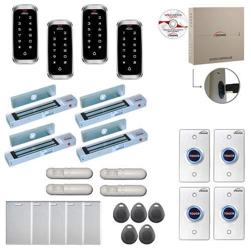 Sale!! Visionis FPC-8195 4 Door Professional Access Control Outswinging Door 300lbs Maglock Time Att...