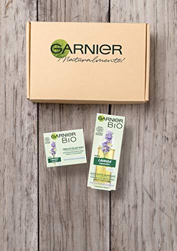 Garnier Skin Active Bio - Kit anti-edad lavanda, crema anti-edad regeneradora y aceite de rostro reafirmante, 50 ml + 30 ml