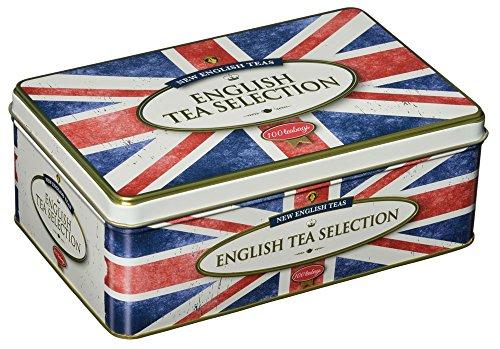 Nueva lata inglesa de regalo de la bolsa de te inglesa Union Jack de English Teas (Total de 100 bolsitas de te)
