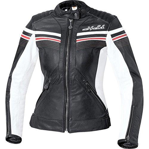 Held Jolin Retro Damen Lederjacke, Farbe schwarz, Größe 40