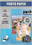 PPD A3 x 50 Hojas de Papel Fotográfico Brillante Súper Premium - Alto Gramaje (280 g/m²) y Secado Instantáneo - Para Todas Impresoras de Inyección de Tinta Inkjet - PPD-16-50