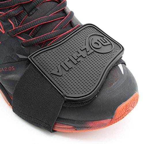 Xcellent Global Protezione scarpa per cambio marcia motocicletta nera AT022