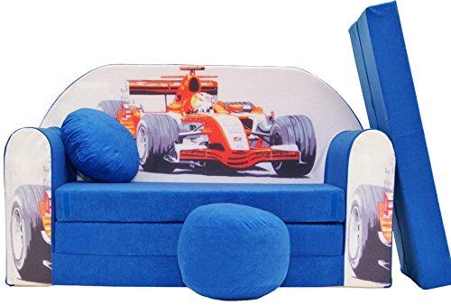 Pro Cosmo C2 Kinder-Schlafsofa, inklusive Polsterhocker, Fußablage und Kissen