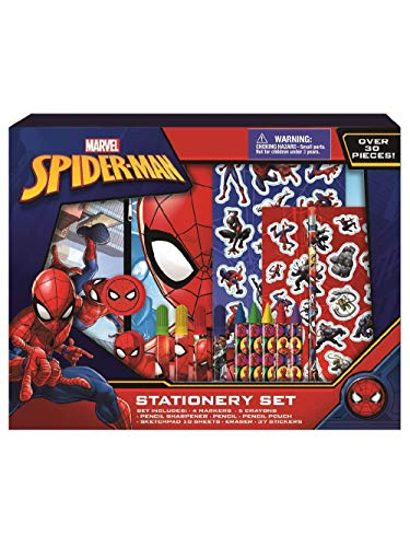 Marvel Spiderman Coloring Set for Kids - 30 Pc. with Stickers + Pencil Case