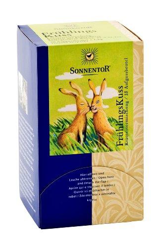 Sonnentor FrühlingsKuss-Kräutertee Teebeutel, 2er Pack (2 x 27 g) - Bio