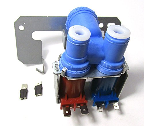 WR57X92 - REFRIGERATOR DUAL DOUBLE SOLENOID WATER INLET VALVE FOR FRIGS WITH ICE MAKER AND WATER DISPENSER FOR GE MODELS