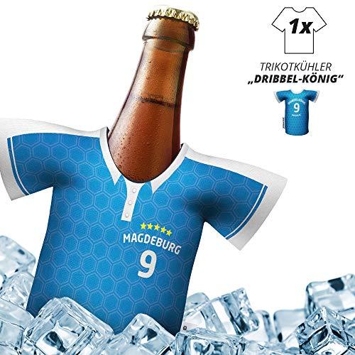Fan-Trikot-kühler Home für FC Magdeburg-Fans | DRIBBEL-KÖNIG | 1x Trikot | Fußball Fanartikel Jersey Bierkühler by Ligakakao