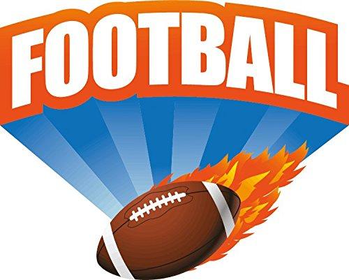NFL American Football Sport Logo Hochwertigen Auto-Autoaufkleber 12 x 10 cm