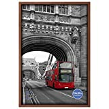 RPJC 24x36 Inch Solid Wood Poster Frames for Wall Mounting Hanging Picture Frame Brown