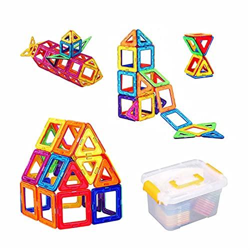 YORKING 40 TLG Magnetische Bausteine Magnetblock-Set Magnetspielzeug für Kinder Magnetic Bauklötze Kreatives Lernen Lernspielzeugspiele