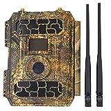 ZHBD LTE 4G Cámaras De Sendero Celular, Cámara Inalámbrica De 16MP 1080P para Monitoreo De Vida Silvestre con Velocidad De Activación De 0.3 Segundos A Prueba De Agua Y Movimiento Activado
