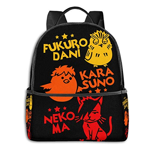 XCNGG Anime & Haikyuu Best Team Student School Bag School Cycling Leisure Travel Camping Outdoor Backpack