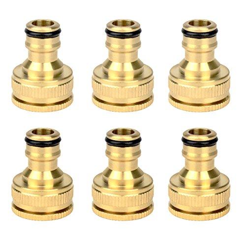 Lot de 6 connecteurs pour tuyau d'arrosage dans le jardin Faucet Connectors