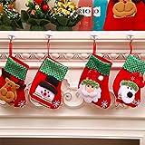 QIMMU Mini Medias de Navidad Calcetín de Navidad Santa Mini Calcetines de Navidad para el árbol de Navidad Chimenea Decoración Colgante Calcetín de Navidad Santa/Reno/Muñeco de Nieve 4 Piezas