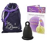 Me Luna Menstrual Taza Classic, Anillo, Color negro, tamaño M