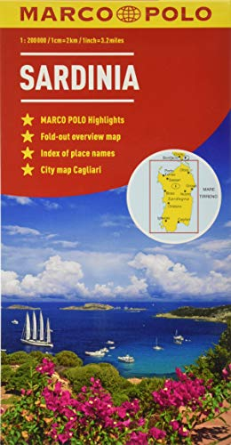 Sardinia Marco Polo Maps [Idioma Inglés]