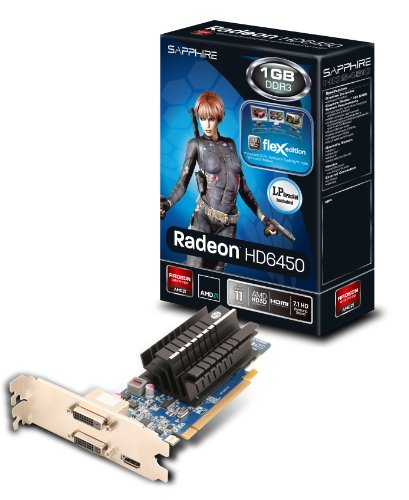 Sapphire HD6450 Grafikkarte (AMD Radeon HD 6450, 1GB, DDR3 Speicher, 2X DVI, HDMI)