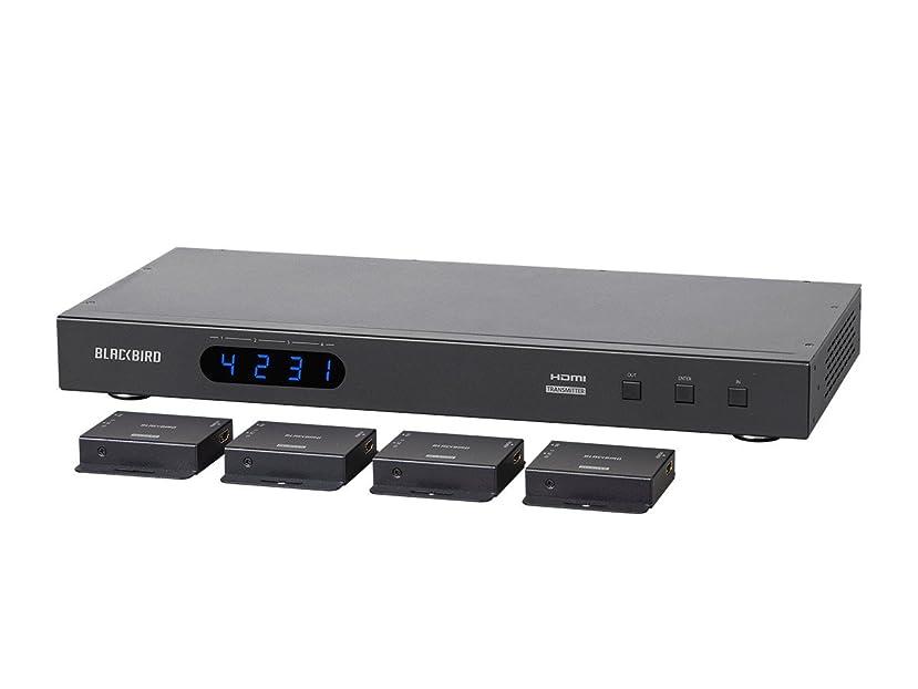 Monoprice Blackbird 4K 4x4 HDMI Matrix Extender with 4 Receivers, PoC, IR, EDID