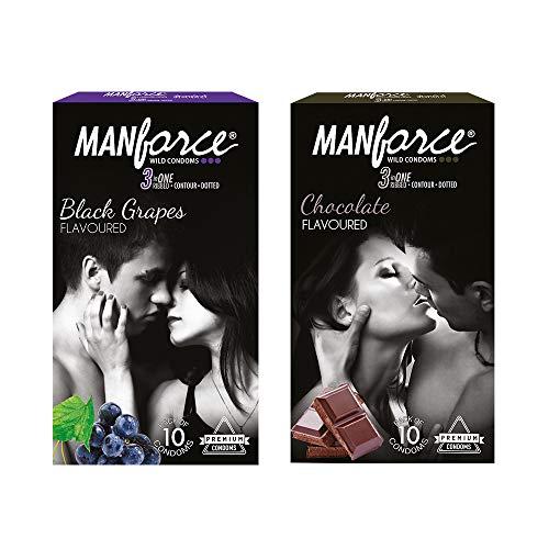 Manforce Combo Flavoured Condoms (Multicolour) – Pack of 2