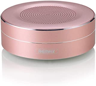 REMaX Portable Wireless Bluetooth Speaker TF Player HD Sound Data Transport Call Function Circular Speaker with Mic for Phone/PC RB-M13 Pink
