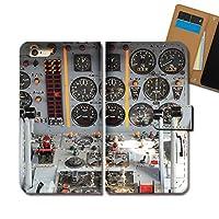AQUOS sense4 plus SH-M16 ケース 手帳型 乗り物 手帳ケース スマホケース カバー 飛行機 コックピット パイロット 海外 E0316040115701