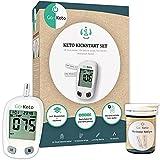 Go-Keto Kickstart Set mmol/l | Todo lo que necesita para acompañar su dieta Keto - Masterclass exclusiva de Keto, accesorios de medición de cetonas | Ketone Check para en casa y mientras viaja