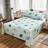 LAMEJOR Bed Sheet Set Queen Size Butterfly Pattern 4 Piece Hotel Luxury Bed Sheets - 1 Flat Sheet, 1 Fitted Sheet, 2 Pillowcases -Deep Pockets, Easy Fit