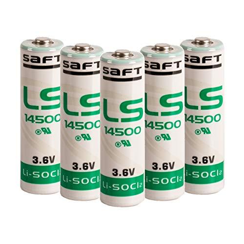 Saft Batterien LS14500, 3,6 V, AA, 5 Stück