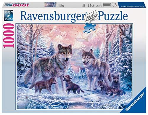 Ravensburger Puzzle 1000 Pezzi, Lupi Artici, Puzzle Animali, Jigsaw Puzzle per Adulti, Puzzle Ravensburger, Stampa di Ottima Qualità