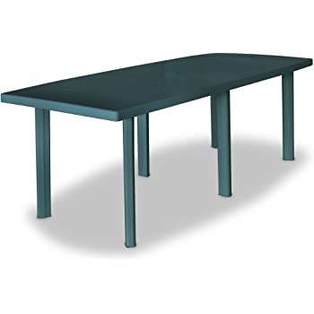 Tuduo Mesa de jardín 210 x 96 x 72 cm de plástico Verde diseño ...