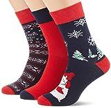 Urban Classics Herren Christmas Weihnachts-strümpfe Set icebear 3er Pack Socken, Multicolour (Multicolor 01667), 43-46