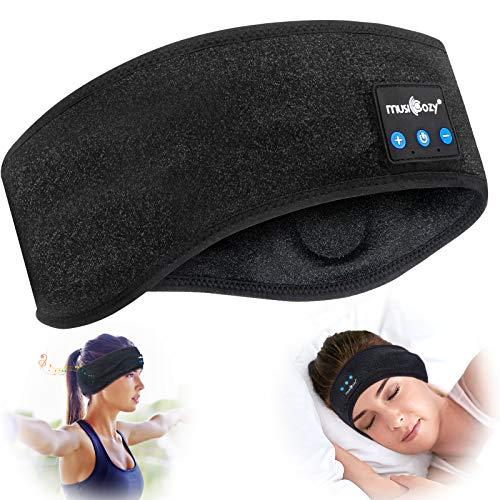 Cuffie per dormire Bluetooth, 5.0 Maschera per dormire con fascia Bluetooth, Fascia per sport wireless, Fascia per musica, Fascia per allenamento, Jogging, Yoga, Insonnia, Viaggi