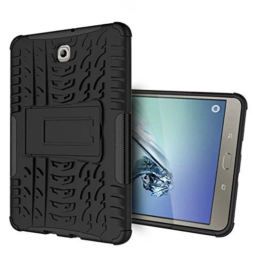 XITODA Funda para Galaxy Tab S2 8.0, Armour Hybrid Dual Layer Armor Duro Cases con Stand Funda para Samsung Galaxy Tab S2 8.0 SM-T710 T715 T713 T719 Tablet - Negro