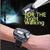 FEE-ZC Torcia Portatile Leggera a LED Super Luminosa Leggera da Polso, Carica USB Ricaricabile per Il Campeggio di Arrampicata