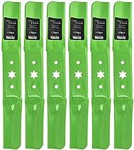 8TEN LawnRAZOR Medium-Lift Blade for MTD 54 Inch Deck Cub Cadet RZT 54 Troy Bilt 942-05056A 942-05056 6 Pack