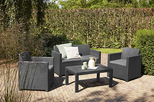 Allibert Merano Lounge Set, graphite/cool grey (poly cotton cushion) - 6