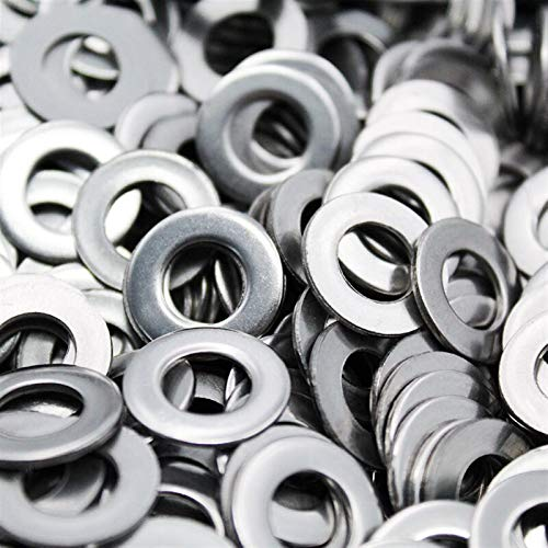 Liovns Mdingbao-Flat Washers 100pcs 304/A2-70 Stainless Steel Flat Machine Washer Plain Washer Flat Gasket Rings, M2 M2.5 M3 M4 M5 M6 M8 M10, Corrosion and Durable (Inner Diameter : M6 (50pcs))