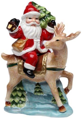 Cosmos Gifts 10519 - Juego de salero y pimentero, diseño de Papá Noel con reno