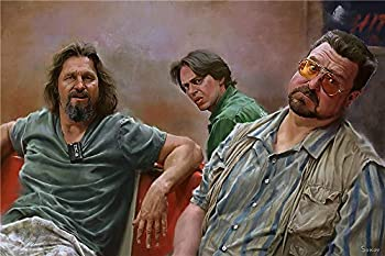 The Big Lebowski Wall Art Home Wall Decorations for Bedroom Living Room Oil Paintings Canvas Prints-421  Framed,24x36inch