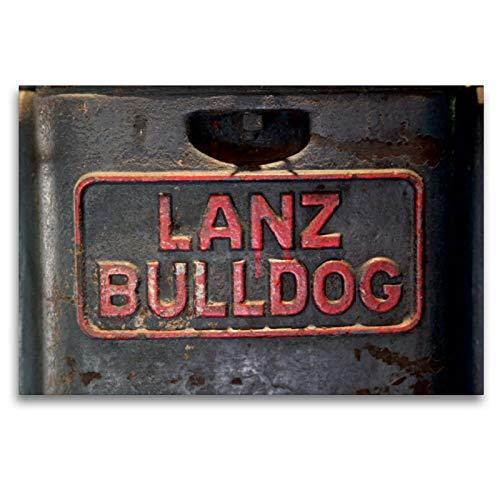Premium Textil-Leinwand 120 x 80 cm Quer-Format Traktoren - Embleme: Lanz Bulldog | Wandbild, HD-Bild auf Keilrahmen, Fertigbild auf hochwertigem Vlies, Leinwanddruck von Dirk Ehrentraut