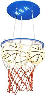 MX Chandelier Children's Room Theme Chandelier Creative Personality Adjustable 3 Head Glass Pendant Lamp Basketball Boy Gi...